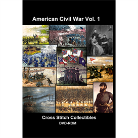 american civil war vol 1 cd/dvd - cross stitch pattern by cross stitch collectibles