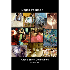 degas vol 1 cd/dvd - cross stitch pattern by cross stitch collectibles