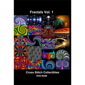 fractal vol 1 cd/dvd - cross stitch pattern by cross stitch collectibles