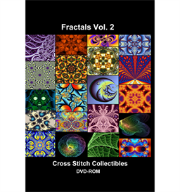 fractals vol 2 cd/dvd - cross stitch pattern by cross stitch collectibles