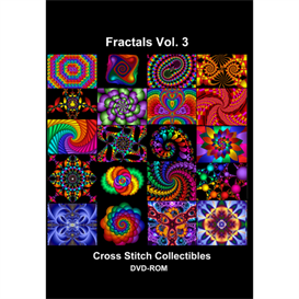 fractals vol 3 cd/dvd - cross stitch pattern by cross stitch collectibles