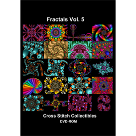 fractals vol 5 cd/dvd - cross stitch pattern by cross stitch collectibles