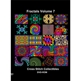 fractals vol 7 cd/dvd - cross stitch patterns by cross stitch collectibles