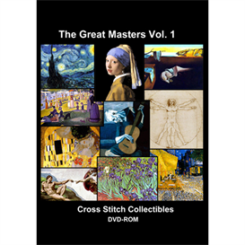 the great masters vol 1 cd/dvd - cross stitch pattern by cross stitch collectibles