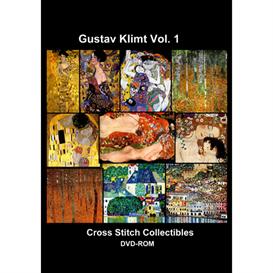 klimt vol 1 cd/dvd - cross stitch pattern by cross stitch collectibles