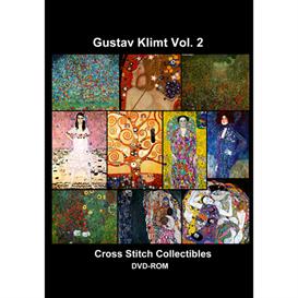 klimt vol 2 cd/dvd - cross stitch pattern by cross stitch collectibles