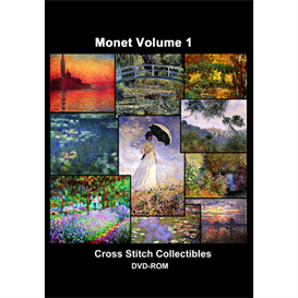 monet vol 1 cd/dvd - cross stitch pattern by cross stitch collectibles