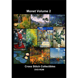 Monet Vol 2 CD/DVD - cross stitch pattern by Cross Stitch Collectibles | Crafting | Cross-Stitch | Other