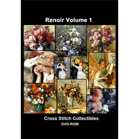 Renoir Vol 1 CD/DVD - cross stitch pattern by Cross Stitch Collectibles | Crafting | Cross-Stitch | Other