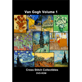 van gogh vol 1 cd/dvd - cross stitch pattern by cross stitch collectibles