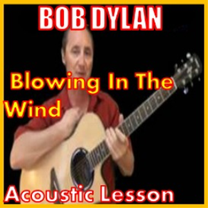 learn to play blowin in the wind by bob dylan