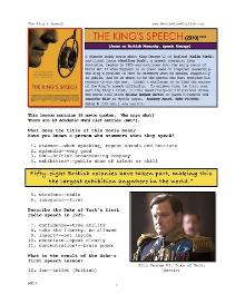 the king's speech,  whole-movie english (esl) lesson