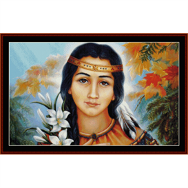 pocahontas - american history cross stitch pattern by cross stitch collectibles
