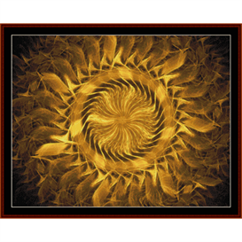 fractal 343 cross stitch pattern by cross stitch collectibles