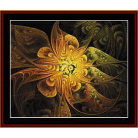 fractal 347 cross stitch pattern by cross stitch collectibles