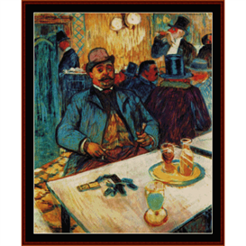 monsieur boileau - lautrec cross stitch pattern by cross stitch collectibles