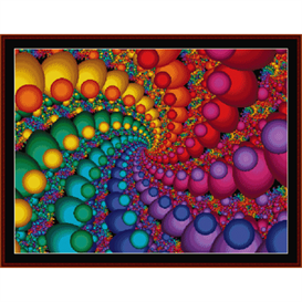 fractal 348 cross stitch pattern by cross stitch collectibles