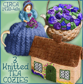 tea cozies - 3 knitted versions