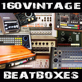 160 vintage drum machine oldschool beatboxes reason kontakt soundfont logic exs24 sample kit