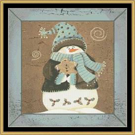 winter greeting - cross stitch pattern