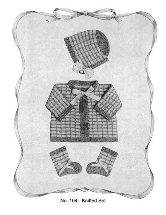 Third Additional product image for - Baby Gems   Volume 100   Doreen Knitting Books DIGITALLY RESTORED PDF