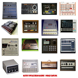 170 vintage drum machines oldschool beatboxes reason kontakt soundfont logic exs24 sample