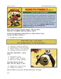 kung fu panda 2,  whole-movie english (esl) lesson