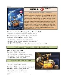 WALL-E,  Whole-Movie English (ESL) Lesson | eBooks | Education