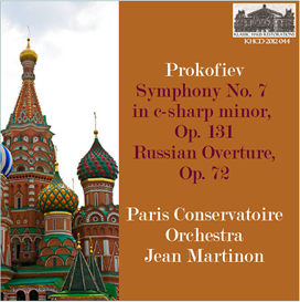 Prokofiev: Symphony No. 7 in c-sharp minor, Op. 131; Russian Overture, Op. 72 - Paris Conservatoire Orchestra/Jean Martinon | Music | Classical