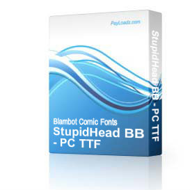 StupidHead BB - TTF   Software   Design