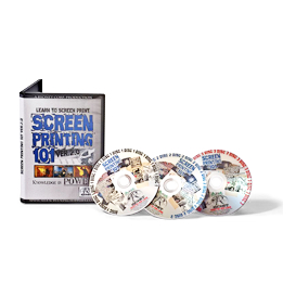 screen printing 101 version 2.0 - instructional dvd disc 3