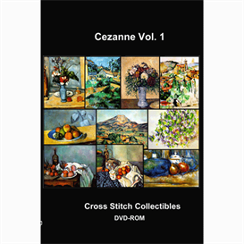 Cezane  Vol. 1 Cross Stitch Collection - 10 cross stitch pattern by Cross Stitch Collectibles | Crafting | Cross-Stitch | Wall Hangings