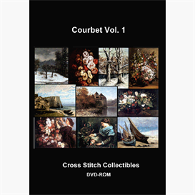 Gustave Courbet Cross Stitch Collection - 10 cross stitch pattern by Cross Stitch Collectibles | Crafting | Cross-Stitch | Other