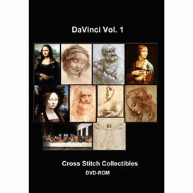 Leonardo DaVinci Vol 1 Cross Stitch Collection - 10 cross stitch pattern by Cross Stitch Collectibles | Crafting | Cross-Stitch | Wall Hangings