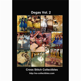 degas vol. 2 cross stitch collection - 10 cross stitch pattern by cross stitch collectibles