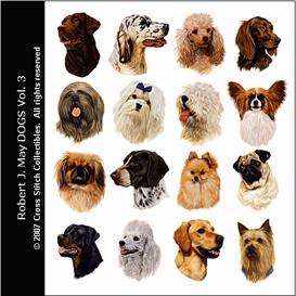 Robt. J. May Vol. 3 Cross Stitch Collection - 16 cross stitch pattern by Cross Stitch Collectibles | Crafting | Cross-Stitch | Animals
