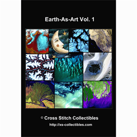 earth-as-art vol. 1 cross stitch collection - 10 cross stitch pattern by cross stitch collectibles