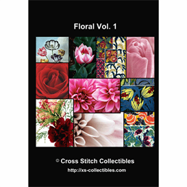 floral vol 1 cross stitch collections - 10 cross stitch pattern by cross stitch collectibles