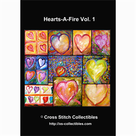 hearts vol 1 cross stitch collections - 10 cross stitch pattern by cross stitch collectibles