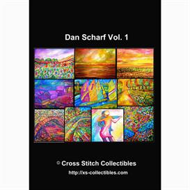 dan scharf vol 1 cross stitch collections - 10 cross stitch pattern by cross stitch collectibles