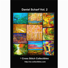 dan scharf vol 2 cross stitch collection - 10 cross stitch pattern by cross stitch collectibles