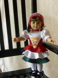 doll knitting pattern - c001 - hungary - traditional costume