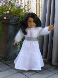 doll knitting pattern - pk001 - princess kate - after wedding dress