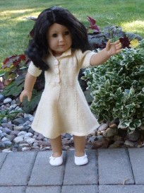 doll knitting pattern - pk002 - princess kate - yellow dress