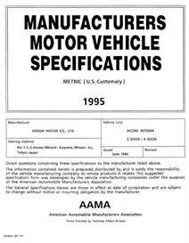 1995 acura integra 3dr & 4dr mvma