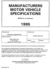 1995 Dodge Stratus MVMA | eBooks | Automotive