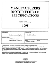 1995 honda civic coupe mvma