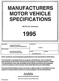 1995 oldsmobile achieva mvma
