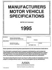 1995 pontiac firebird mvma