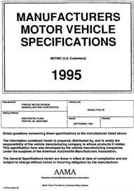 1995 pontiac grand prix se mvma